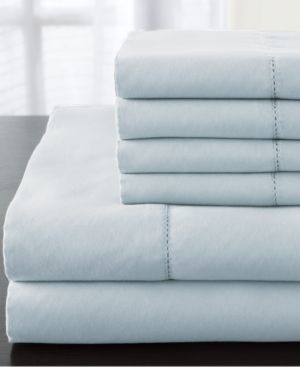 Solid Luxury 1200-Thread Count 6-Pc. Light Blue King Sheet Set Bedding 6408656