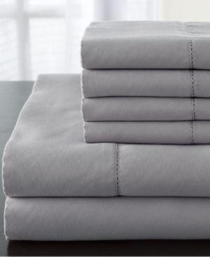 Stripe Luxury 1200-Thread Count 6-Pc. Ivory King Sheet Set Bedding 6408655