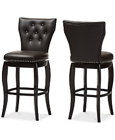 Sycily Swivel Bar Stool (Set of 2), Quick Ship