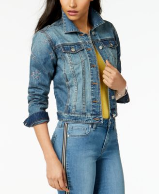 Star-Embroidered Denim Jacket, Created for Macy's
