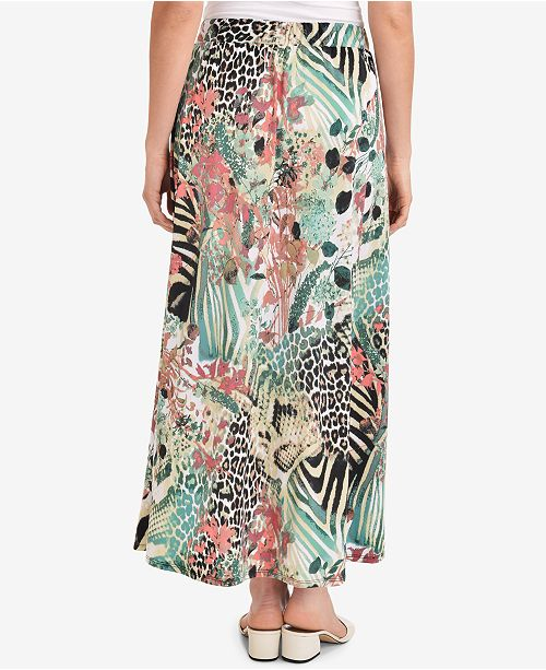 Maxi NY Jungle Printed On Collection Camping Skirt Pull UqqHgxI