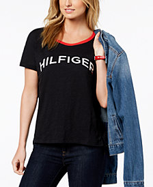 Tommy Hilfiger Sport Cotton Metallic-Logo T-Shirt, Created for Macy's