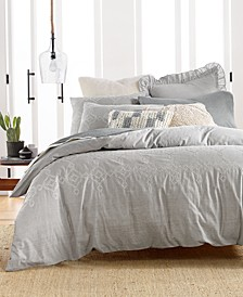 Tile Seed Stitch Duvet Cover Sets, Created for Macy's