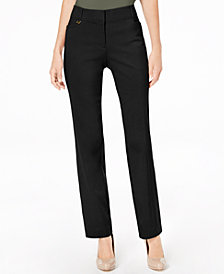 JM Collection Long Length Tummy Control Curvy-Fit Pants, Created for Macy's