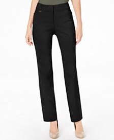 b7158433133 JM Collection Long Length Curvy-Fit Slim-Leg Pants