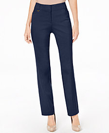 JM Collection Curvy-Fit Slim-Leg Pants, Created for Macy's