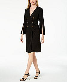 Calvin Klein Double-Breasted Blazer Dress, Regular & Petite