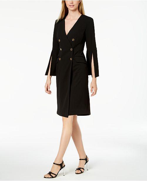 Calvin Klein Double-Breasted Blazer Dress, Regular & Petite