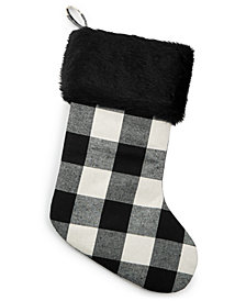 Holiday Lane Plaid Stocking, Created for Macy's