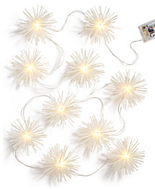 Holiday Lane White Starburst Light Chain, Created for Macy's
