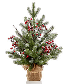 martha stewart tabletop tree with berries created for macys - Martha Stewart 75 Foot Christmas Trees
