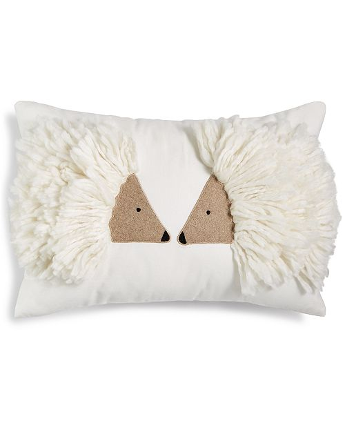Holiday Lane Hedgehog Pillow, Created for Macy's