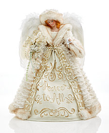 Holiday Lane Cream/Gold Angel Tree Topper, Created for Macy's