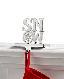 Holiday Lane Snow Stocking Holder, Created for Macy's
