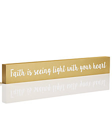 Holiday Lane Sentiments Faith Block, Created for Macy's