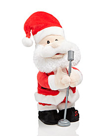 Holiday Lane Animated Plush Singing Solo Santa, Created for Macy's