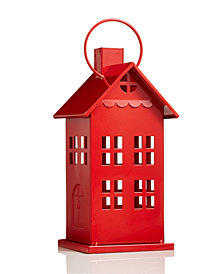 Holiday Lane Medium LED Light Red Christmas House, Created for Macy's