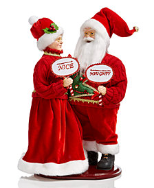 Holiday Lane Mr. & Mrs. Santa, Created for Macy's