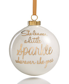 Holiday Lane 'A Little Sparkle' Ball Ornament, Created for Macy's