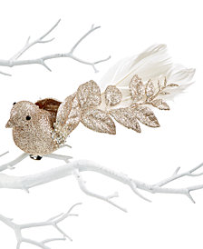 Holiday Lane Plastic Bird Clip Ornament, Created for Macy's