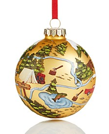 Lodge Map Ornament Created For Macy's