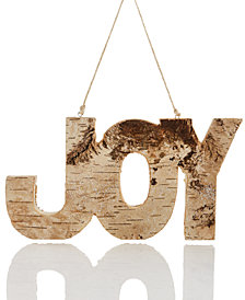 Holiday Lane Wood & Glitter Joy Ornament, Created for Macy's