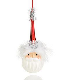 Holiday Lane Santa Head Ornament, Created for Macy's