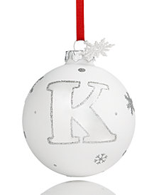 Holiday Lane Initial 'K' Ball Ornament, Created for Macy's
