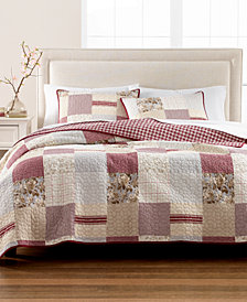Martha Stewart Collection Farmhouse Reversible Patchwork King Quilt, Created for Macy's