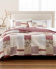 Martha Stewart Collection Farmhouse Reversible Patchwork Twin Quilt, Created for Macy's