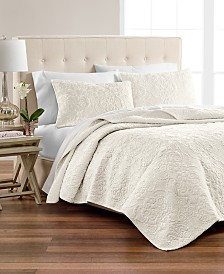 Martha Stewart Collection Velvet Flourish Quilt & Sham Collection, Created for Macy's
