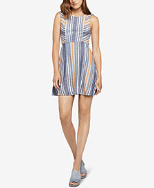 BCBGeneration Striped Fit & Flare Dress