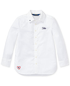 Polo Ralph Lauren Toddler Girls Embroidered Cotton Shirt