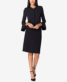 Tahari ASL Bell-Sleeve Skirt Suit, Regular & Petite