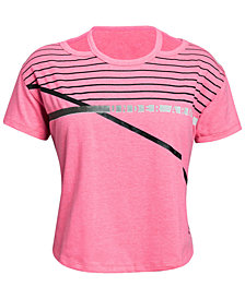 Under Armour Big Girls Charged Cotton® Finale Cut-Out T-Shirt