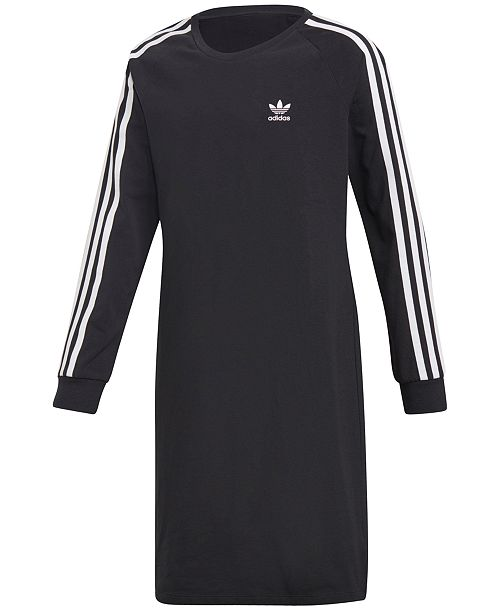 aa98bbdbb017 adidas Big Girls Trefoil Dress   Reviews - Dresses - Kids - Macy s