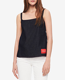 Calvin Klein Jeans Alexa Cotton Denim Cami Top