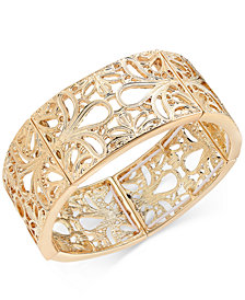 Thalia Sodi Gold-Tone Filigree Stretch Bracelet, Created for Macy's