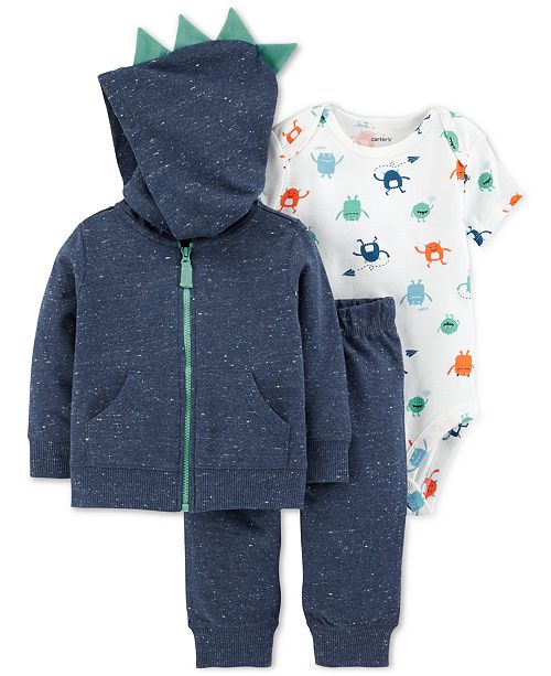 Carter s Baby Boys 3-Pc. Cotton Spikes Hoodie a4031625c
