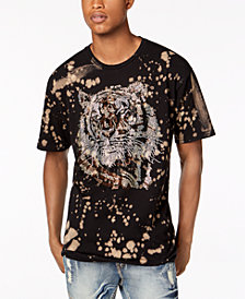 Reason Men's Rhinestone Tiger Splatter Graphic T-Shirt