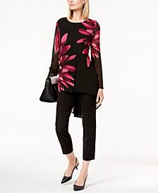Alfani Printed High-Low Tunic & Slim Pants, Created for Macy's