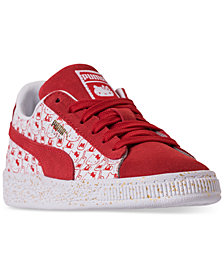 Puma Little Girls' HELLO KITTY Suede Classic Casual Sneakers from Finish Line
