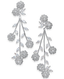 kate spade new york Crystal Flower Statement Earrings