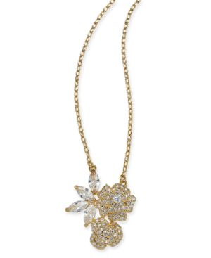 That Special Sparkle Pendant Necklace in Clear Gold