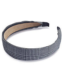 I.N.C. Houndstooth-Print Headband, Created for Macy's