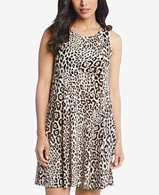 Karen Kane Chloe Leopard-Print A-Line Dress