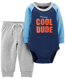 Carter's Baby Boys 2-Pc. Cotton Dude-Print Bodysuit & Jogger Pants Set