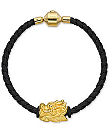 Chow Tai Fook Dragon Braided Bracelet in 24k Gold