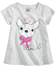 First Impressions Baby Girls Dog-Print Cotton T-Shirt, Created for Macy's
