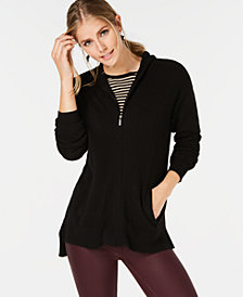 Charter Club Pure Cashmere Hooded Zip-Front Cardigan, in Regular & Petite Sizes, Created for Macy's